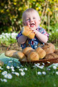 Ben Wittig als Werbegesicht der Bäckerei 2013