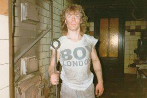 Dirk Wittig ca. 1995 beim Kohle schaufeln